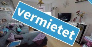 3-Raum Wohnung+Stellplatz in südlicher Innenstadt Halle Saale-vermietet