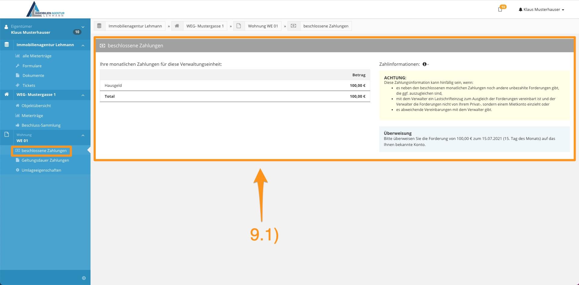 10. Erklärung Portal