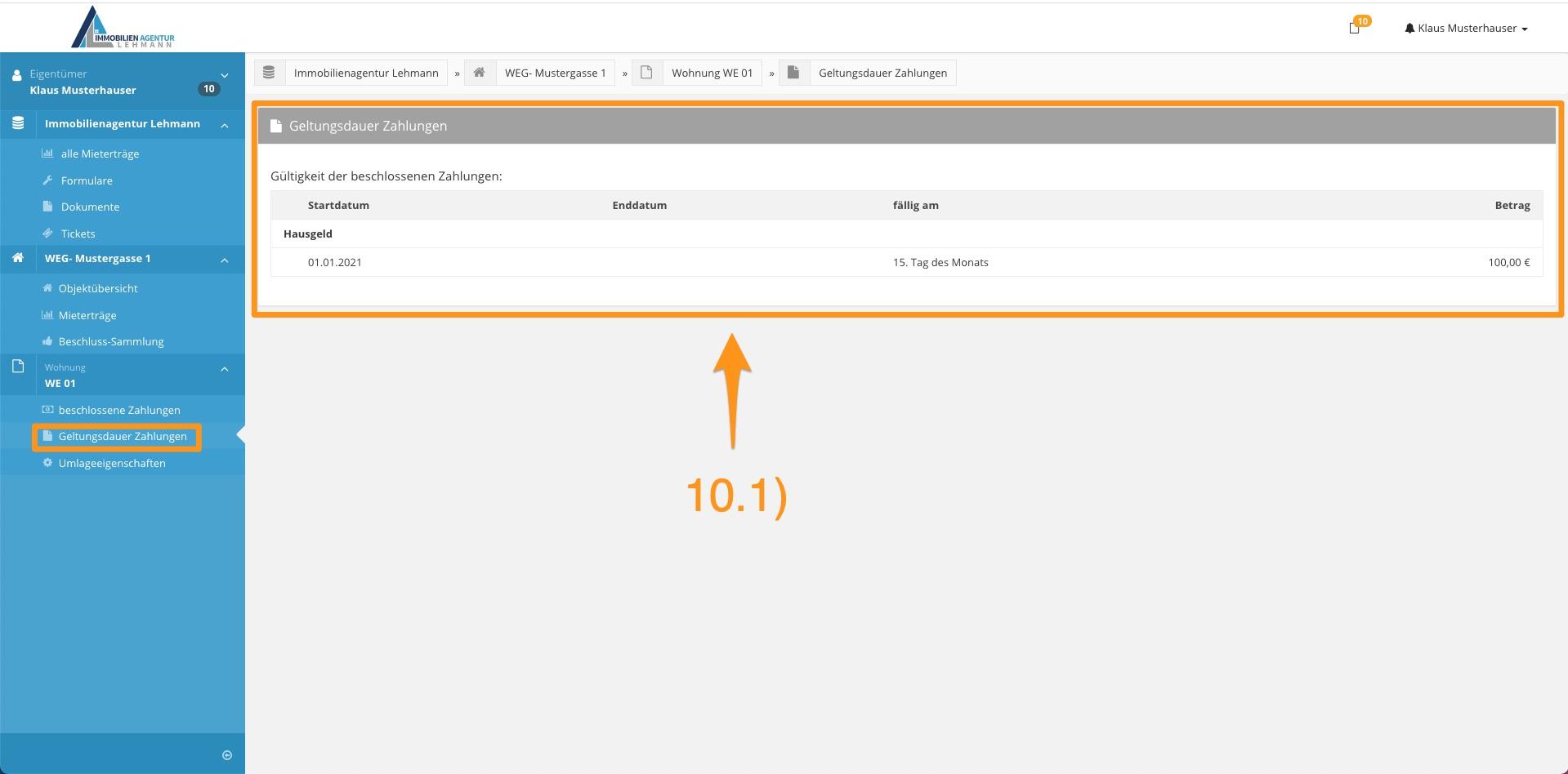 11. Erklärung Portal