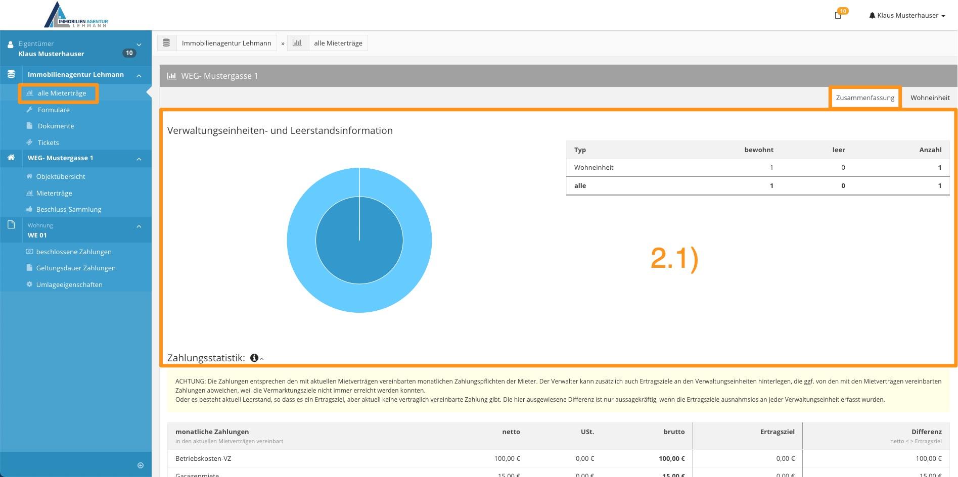 3. Erklärung Portal