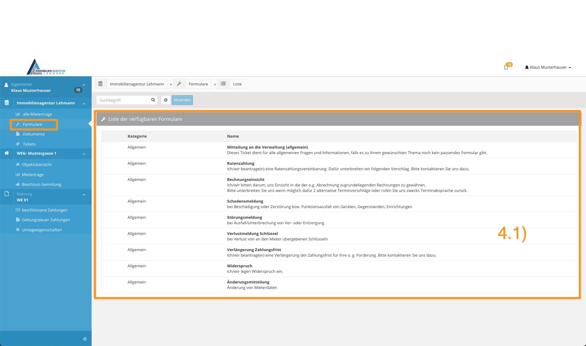 5. Erklärung Portal