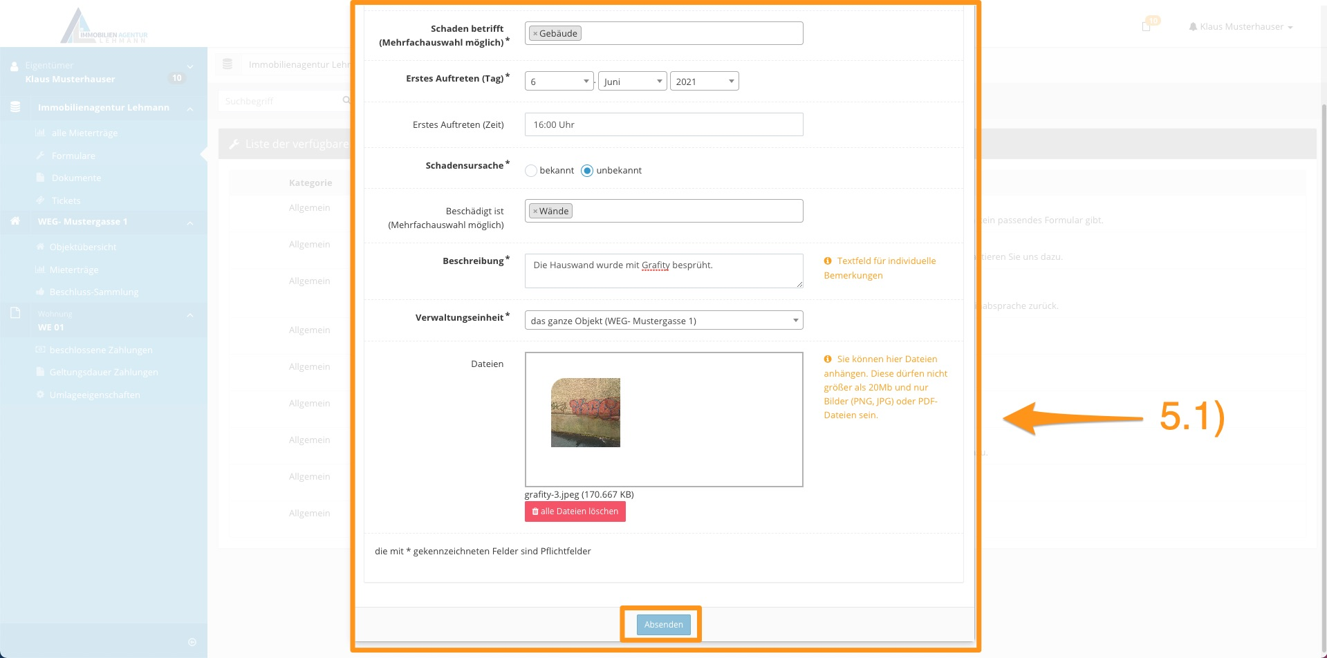 6. Erklärung Portal